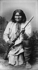 Native American Indian Apache Chief Geronimo Rifle 1890 7x4 Inch Reprint Photo