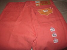 NWT Levi's 501 Men's Salmon Button Fly Straight Leg Shrink Fit Jeans Size 36x34