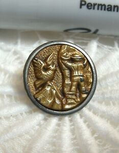 """Antique Metal Picture Button 5/8"""" MOUNTAINEER"""