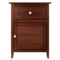 Walnut Nightstand Bedside Table Drawer End Side Storage Shelf Bedroom Furniture
