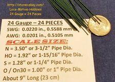 "LMH WIRE N HO S O On30 24 Ga .022"" .559 mm GRAB IRON Brake Rigging Piping 24 Pcs"