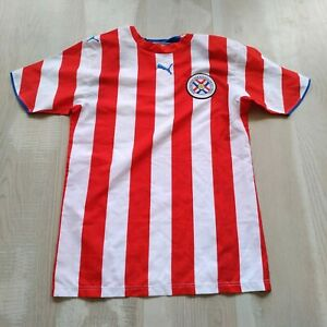 Paraguay Team Jersey Home shirt 2006 - 2007 Red White Puma Trikot Mens Size S