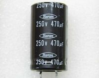 Lot x2 : capacitor condensateur 470µF 470uF 470MF 250v snap-in 105°C 25x45mm