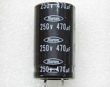 Lot x2 : capacitor condensateur condo 470µF 470uF 470MF 250v snap-in 105°C