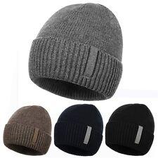 New Men's Women's Knit Beanie Winter Warm Hat Ski Skull Slouchy Chic Cap DAZ