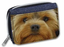 Yorkshire Terrier Dog Girls/Ladies Denim Purse Wallet Christmas Gift I, AD-Y10JW