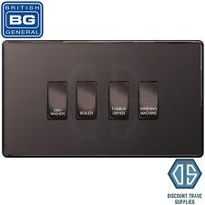 BG Black Nickel Screwless Custom Grid Switch Panel Kitchen Appliance 4 Gang