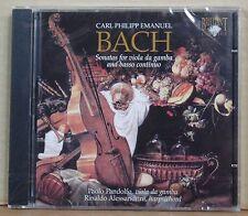 CD C.P.E. Bach Sonatas Viola poiché gamba basso breviario Pandolfo BRILLIANT NUOVO & OVP