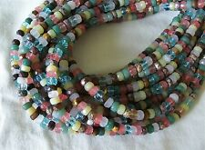 "16"" Strand Assorted Semi Precious Stone Faceted Wheel Rondelle Beads 7mm-8mm"