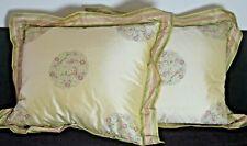 Pair of Exclusive Estate Designer Silk Embroidered Throw Pillows VV621
