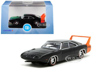 1969 DODGE CHARGER DAYTONA BLACK 1/87 (HO) SCALE DIECAST CAR BY OXFORD 87DD69001