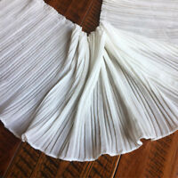 1yd Chiffon Pleated Edge Trim Elastic Ruffle Lace Ribbon Sewing Hem 6.69'' Width