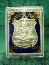 Phra LP Mun Wat Banjan Talisman Coin Vishnu Garuda Mantra Thai Buddha Amulet