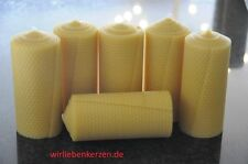 6 x Bees Wax Candles XXL 100% BEES WAX CANDLES 150 x 65mm Handmade from D