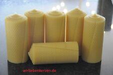 6x Velas Cera de abeja XXL 100% 150 x 65mm hecho a mano AUS D