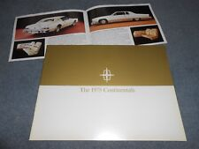 "1975 LINCOLN CONTINENTAL & MARK IV 24 p. CATALOG + ""CADILLAC SWITCH""  BROCHURE"