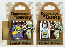 Disney Doorways Toy Story Midway Mania Buzz Lightyear & Aliens 3-D Pin LE 4000