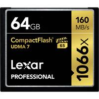 Lexar Professional 64GB Compact Flash 160MB/s CF Memory Card 1066x UDMA 7 VPG-65