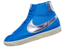 NIKE BLAZER  VINTAGE  WOMENS HI  PHOTO BLUE/SILVER LADIES SIZE UK 4.5