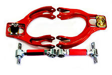 92-95 Honda Civic EJ EG EH Front Upper Control Arm +  Rear Camber Bar Kit Red