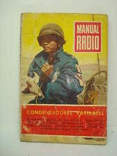 MANUAL RADIO. ABRIL 1954 CONDENSADORES VARIABLES
