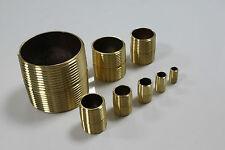 "5 X New Brass Pipe Close Nipple Fitting 3/4"" Male NPT"