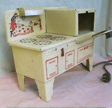 Vintage Child's EMPIRE METAL WARE Electric STOVE,C.1940,Original,Art Deco Design