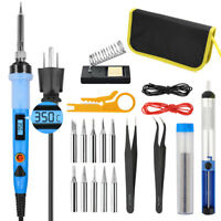 80W LCD Digital Soldering Iron Gun Kit Electric Welding Solder Wire Temperature