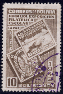 1942 Bolivia SC# 280 - F - First Stamp of Bolivia & 1941 Airmail Stamp - Used