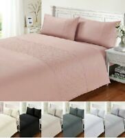 Luxuries PIN SONIC  Satin Silk Duvet Quilt Cover Set+PillowCase Bed Set All Size