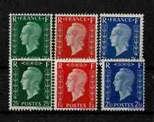 "FRANCE YVERT 701 A - F "" MARIANNE DULAC 6 STAMPS PRINTED IN LONDON "" MH VF V315"