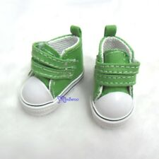 Yo-SD bjd Doll Shoes 2 Strap Denim Boots Green (for Foot 4.5cm long)