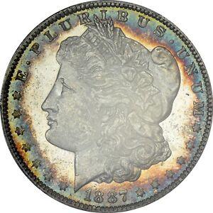 1887-O Toned Morgan Dollar PCGS MS62 PL rare proof-like toner