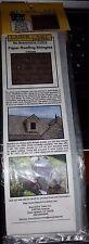 HO 1/87 Laser-Art - Paper Roofing Shake Shingles Gray BRA902  NIP 2 Pcs