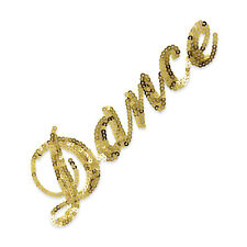 IRON ON WORD DANCE SEQUIN APPLIQUE 3385-Z