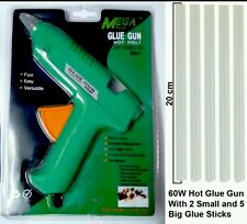 80W Multi Purpose Hot Melt Glue Gun (with 2 small and 5 Big Glue Sticks)