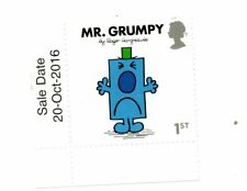 MR GRUMPY; ROGER HARGREAVES Royal Mail 2018 Stamp corner + DATE unmounted mint
