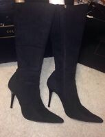 Colin Stewart: Black Suede Stiletto Boot