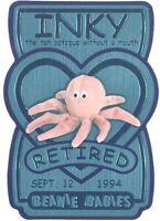 TY Beanie Babies BBOC Card - Series 3 Retired (TEAL) - INKY the Tan Octopus