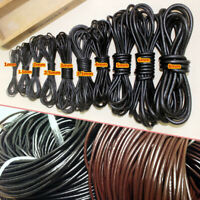 Genuine Cow Leather Circular Cord Cowboy DIY Craft Strap Rope String Bracelet 5M