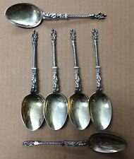 Set of 6 Victorian Sterling Apostle Spoons; Martin, Hall & Co, Sheffield, 1884