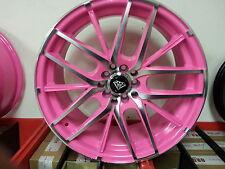 17X7.5  # 0029 Pink Machine White Diamond Edition wheels Rims 4X100 New Product