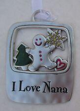 TD I love Nana gingerbread man TIDINGS OF THE SEASON CHRISTMAS ORNAMENT