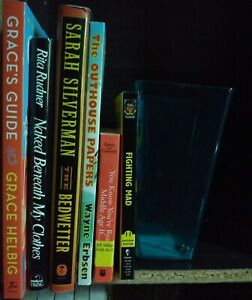 Comedy Books Lot of 6, Grace's Guide, Naked Beneath My Clothes, The Bedwetter