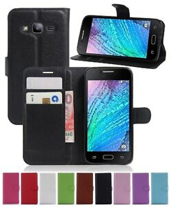 Wallet Leather Flip Case Pouch Cover For Samsung Galaxy J2 2016 Genuine AuSeller