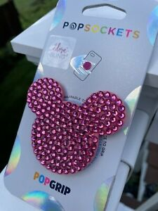 NEW Authentic Pink Bling Rhinestone PopSocket Disney Inspired Mouse iPhone