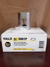 "Halo Recessed Trim White Trim Ring with White Baffle 5001P 5"" New In Packaging"