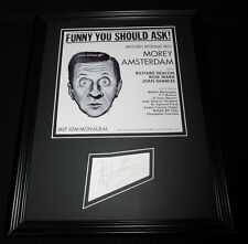 Morey Amsterdam Signed Framed 11x14 Photo Display Funny You Should Ask