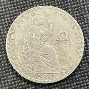 Peru 1923 Un Sol .500 Silver Coin - P81
