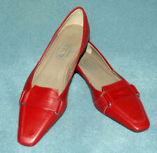 Women's Talbots Red Orange Leather Loafers - Size 6 N